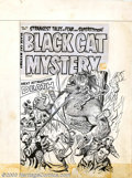 Original Comic Art:Covers, Unknown artist - Original Cover Art for Black Cat Mystery #42(Harvey, 1955). A carnival attraction gone hideously wrong gra...