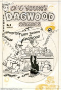 Original Comic Art:Covers, Unknown artist - Original Cover Art for Chic Young's Dagwood Comics#4 (Harvey, 1952). Happy Birthday to Dagwood! The festiv...