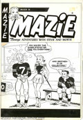 Original Comic Art:Covers, Unknown artist - Original Cover Art for Mazie (Harvey). Stevie getsthe Mazie treatment in this charming cover from the '50s...