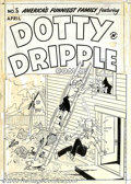 Original Comic Art:Covers, Unknown artist - Original Cover Art for Dotty Dripple Comics #5(Harvey, 1948). Long before America's Funniest Home Videos w...