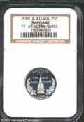Proof Statehood Quarters: , 2000-S Maryland Clad PR 69 Deep Cameo NGC. ...