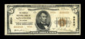 National Bank Notes:Oklahoma, Kingfisher, OK - $5 1929 Ty. 2 The Peoples NB Ch. # 9954. While hardly a rare bank, this piece is the only $5 example re...
