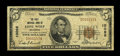 National Bank Notes:Oklahoma, Lone Wolf, OK - $5 1929 Ty. 1 The First NB Ch. # 10096. This is one of only a literal handful of circulated small notes ...