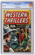 Golden Age (1938-1955):Western, Western Thrillers #3 (Atlas, 1955) CGC VF 8.0 Off-white to whitepages....