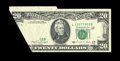 Error Notes:Foldovers, Fr. 2076-L $20 1988A Federal Reserve Note. Extremely Fine-About Uncirculated. A very impressive foldover and associated cutt...