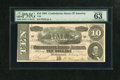 "Confederate Notes:1864 Issues, T68 $10 1864. PMG has given the ""Exceptional Paper Quality"" designation to this colorful note. Choice Uncirculated 63 EPQ...."