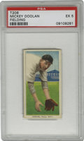 Baseball Cards:Singles (Pre-1930), 1909-11 T206 Mickey Doolan Fielding PSA EX 5. Yet another PSA 5 offering of one of Mickey Doolan's entries from the popular...