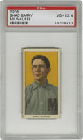 Baseball Cards:Singles (Pre-1930), 1909-11 T206 Shad Barry Milwaukee PSA VG-EX 4. Quality portrait minor league card from the most popular tobacco card issue ...