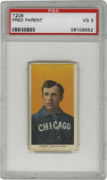 Baseball Cards:Singles (Pre-1930), 1909-11 T206 Fred Parent PSA VG 3 . Rich color registration is the highlight of this nice portrait card featuring White Sox...