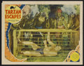 "Movie Posters:Adventure, Tarzan Escapes (MGM, 1936). Lobby Card (11"" X 14""). ActionAdventure. Starring Johnny Weissmuller, Maureen O'Sullivan, John..."