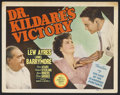 """Movie Posters:Drama, Dr. Kildare's Victory (MGM, 1942). Title Lobby Card (11"""" X 14""""). Drama. Starring Lew Ayres, Lionel Barrymore, Ann Ayars and ..."""