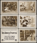 """Movie Posters:Comedy/Short, His Hidden Purpose (Paramount, 1918). Title Lobby Card (11"""" X 14"""") and Lobby Cards (5) (11"""" X 14""""). Comedy. Starring Chester... (Total: 6 Items)"""