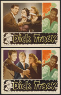 "Movie Posters:Crime, Dick Tracy (RKO, 1945). Lobby Cards (2) (11"" X 14""). Crime.Starring Morgan Conway, Anne Jeffreys, Mike Mazurki and Jane Gre...(Total: 2 Items)"
