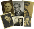 Movie/TV Memorabilia:Autographs and Signed Items, Various Male Star Autographed Pictures Group of 6 - Richard Widmark, Edmund Lowe, Monte Blue, George O'Brien, William S. Hart ...