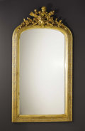 Furniture: French, A French Napoleon III Giltwood Mirror. Unknown maker, French. Circa1850-1870. Carved and gilded wood, mirrored glass. Unm...
