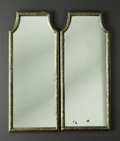 Decorative Arts, Continental:Other , A Pair of Giltwood Mirrors. Unknown maker, Continental. 20thCentury. 35 inches x 14.75 inches each. A rectangular form ...