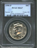 Kennedy Half Dollars: , 1998-P MS67 PCGS. ...
