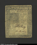Colonial Notes:Delaware, January 1, 1776, 18d, Delaware, DE-74, VF. This note is ...