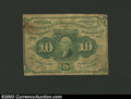 Fractional Currency:First Issue, First Issue 10c, Fr-1242, Fine. This is the straight edge ...
