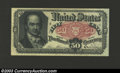 Fractional Currency:Fifth Issue, Fifth Issue 50c, Fr-1381, XF+. This Crawford note has only a ...