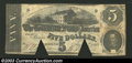 Confederate Notes:1863 Issues, 1863 $5 State Capitol at Richmond, VA in center; C.G. ...