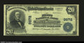 National Bank Notes:Georgia, Milledgeville, GA- $20 1902 Plain Back Fr. 653 The First ...
