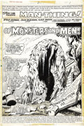 Original Comic Art:Splash Pages, John Buscema and Klaus Janson - Giant-Size Man-Thing #2, SplashPage 1 Original Art (Marvel, 1974)....