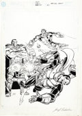 Original Comic Art:Covers, Jim Starlin and Joe Rubinstein - Hardcore Station #3 Cover OriginalArt (DC, 1998)....