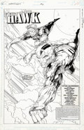 Original Comic Art:Splash Pages, Travis Charest and Scott Hanna - Darkstars #6, Splash Page 1Original Art (DC, 1993)....