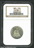 Proof Seated Quarters: , 1884 25C PR62 NGC. There appears to be a portion of a ...