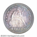 Seated Quarters: , 1853 25C Arrows and Rays MS65 NGC. Gem quality survivors ...