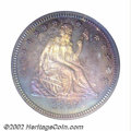 Proof Seated Quarters: , 1867 25C PR65 PCGS. Whereas the obverse shield ribbon is ...