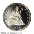 Proof Seated Quarters: , 1881 25C PR68 Deep Cameo PCGS. This is the first proof ...