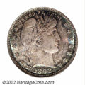 Barber Quarters: , 1892 25C MS67 PCGS. Type Two Reverse, as identifiable by ...