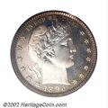 Proof Barber Quarters: , 1896 25C PR67 PCGS. This lot offers one of two similarly ...