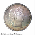 Proof Barber Quarters: , 1896 25C PR67 PCGS. This coin is one of several exquisite ...