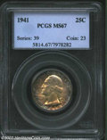 Washington Quarters: , 1941 25C MS67 PCGS. We wholeheartedly recommend this coin ...