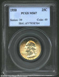 Washington Quarters: , 1950 25C MS67 PCGS. There is much to recommend this coin ...