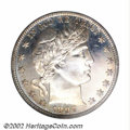 Proof Barber Half Dollars: , 1897 50C PR66 PCGS. The peripheries display a dusting of ...
