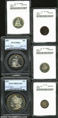 Early Proof Sets: , 1891 1C Cent PR63 Brown ANACS. The otherwise mahogany-...