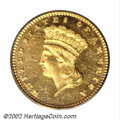 Proof Gold Dollars: , 1876 G$1 PR63 PCGS. As an issue, the 1876 is the rarest ...