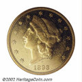 Proof Liberty Double Eagles: , 1893 $20 PR60 NGC. This is a late date Liberty Double ...