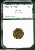 Additional Certified Coins: , 1909-S VDB 1C Cent MS63 90% Red PCI (MS63 Questionable ...