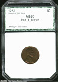 Additional Certified Coins: , 1955/55 1C Doubled Die Cent MS60 Red and Brown PCI (MS60 ...