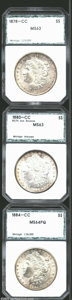 Additional Certified Coins: , 1878-CC $1 Morgan Dollar MS63 PCI (MS62), lustrous and ...