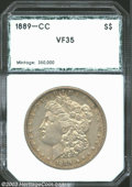Additional Certified Coins: , 1889-CC $1 Morgan Dollar VF35 PCI (VF30 Lightly Cleaned).