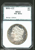 Additional Certified Coins: , 1890-CC $1 Morgan Dollar MS62 90% White PCI (MS62 ...