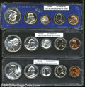 Proof Sets: , An Uncertified Lot that contains 1951, 1953, and 1954 Proof ...