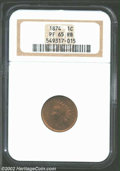Proof Indian Cents: , 1874 PR 65 Red and Brown NGC. ...