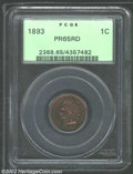 Proof Indian Cents: , 1893 PR 65 Red PCGS. ...